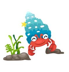 a hermit crab vector image