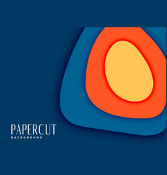 Abstract papercut cover background design vector