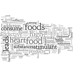 Addictive foods and their harmful consequences vector