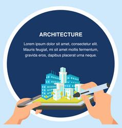 architecture flat design vector image