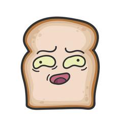 Awkward slice bread cartoon vector