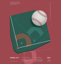 Baseball championship sport poster design vector