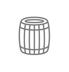 beer or wine barrel line icon vector image