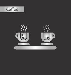 Black and white style icon coffee cup flavor vector