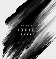 Black color paint stain background design vector