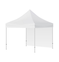 blank square tent with one wall mock up isolated vector image