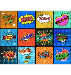 Boom set vector image
