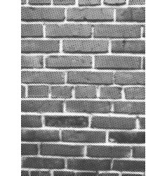 brick wall halftone texture overlay vector image