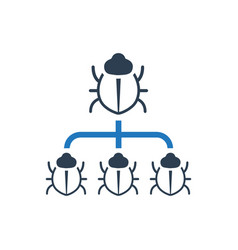 Bug management icon vector