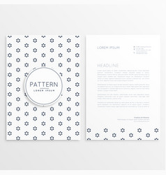 Business flyer with minimal pattern vector