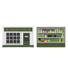 Cannabis store marijuana products vector