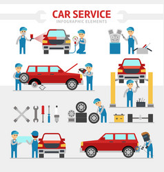 Car repair service flat vector