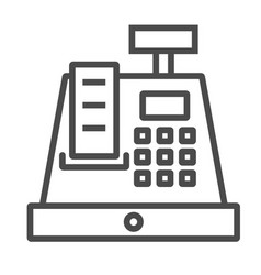 cashier icon line isolate on white vector image