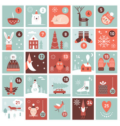Christmas advent calendar vector