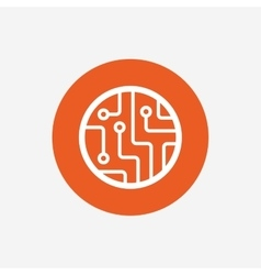 Circuit board sign icon Technology symbol vector image
