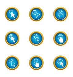 Clack icons set flat style vector