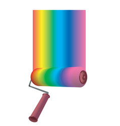 color roller vector image