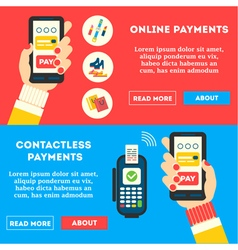 Contactless Banners vector