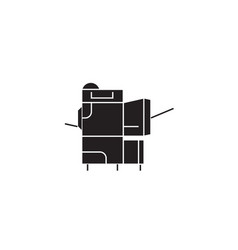 copier black concept icon copier flat vector image