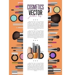 Cosmetics Promo Booklet Title Page Template vector image