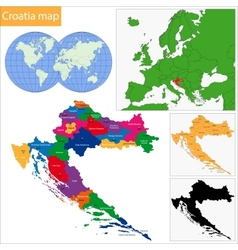 Croatia map vector