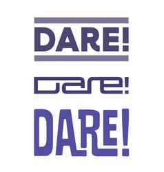 dare-logo vector image