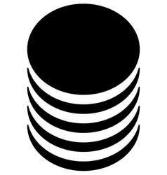 Database barrel cylinder shape symbol vector