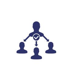 Delegate task delegation icon vector