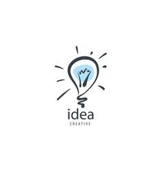 drawn logo in the shape of a lamp vector image
