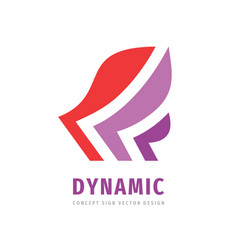 Dynamic wing arrow business logo design strategy vector