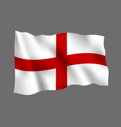 england flag isolated on gray background vector image