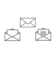 Envelopes set icons vector