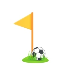 Field corner flag vector image