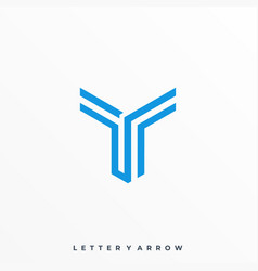 fighter letter arrow template vector image