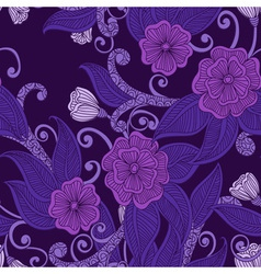 Floral ornamental seamless pattern vector