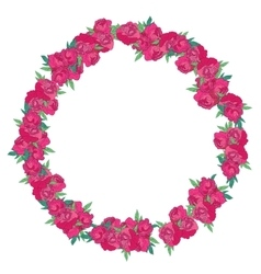 Floral wreath made of peonies vector image