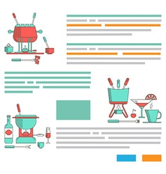 Fondue pattern design brochures vector