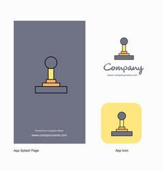 gear box company logo app icon and splash page vector image