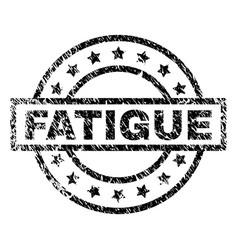 Grunge textured fatigue stamp seal vector