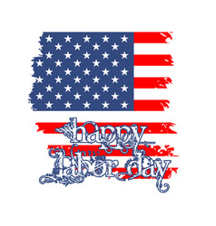Happy labor day greeting card vector