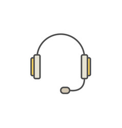 Headset colorful icon vector