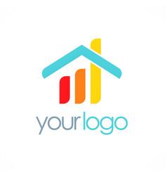 Home business progress logo vector
