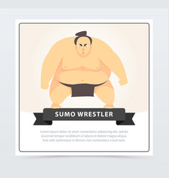 japanese sumo martial arts fighter sumo wrestler vector image