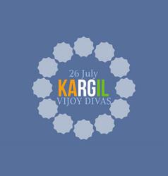 Kargil vijay divas 26th july typography vector