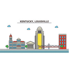 kentucky louisvillecity skyline architecture vector image