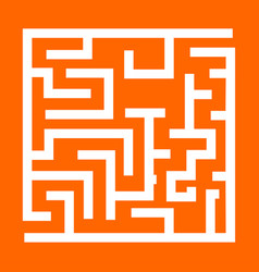 labyrinth maze conundrum white icon vector image