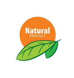 logo natural product vector image