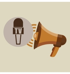 megaphone concept microphone news design vector image