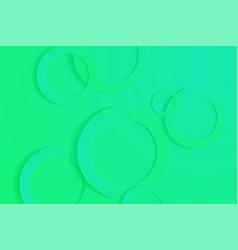 Modern spring green backgrounds 3d circle vector