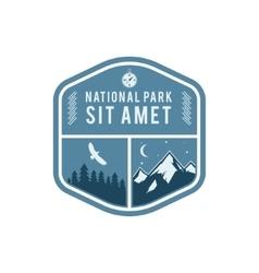 National park vintage badge mountain explorer vector